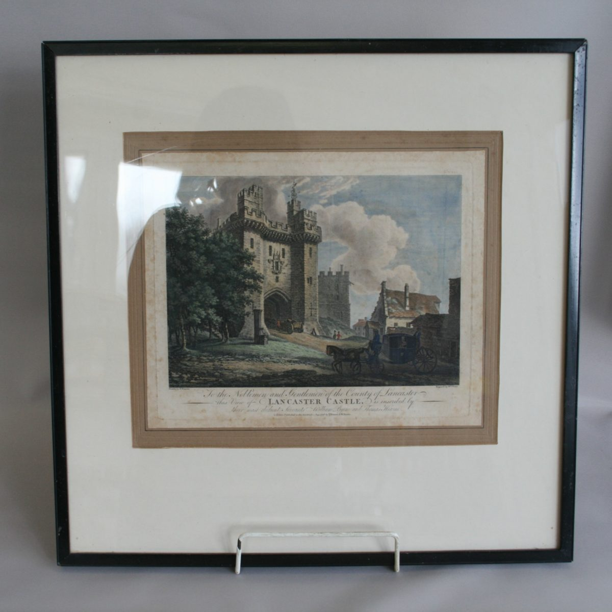 copperplate print of Lancaster Castle/williamsantiques