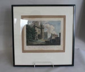 copperplate print of Lancaster Castle/williamsantiques