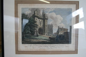 copperplate print of Lancaster Castle