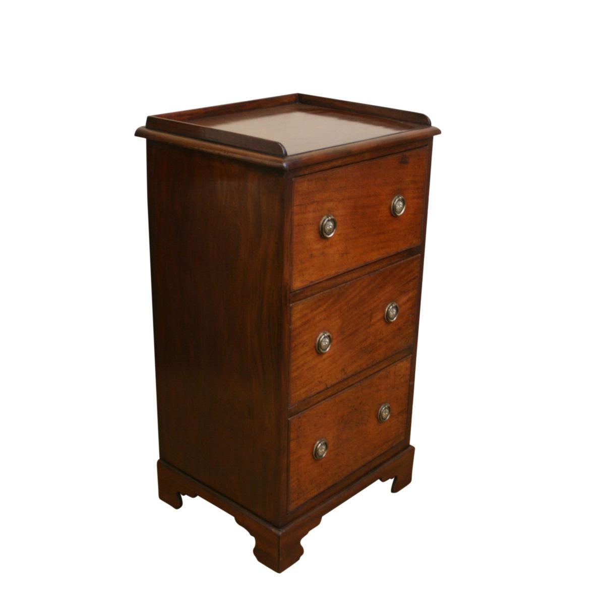 Victorian mahogany slim three drawer chest/williamsantiques