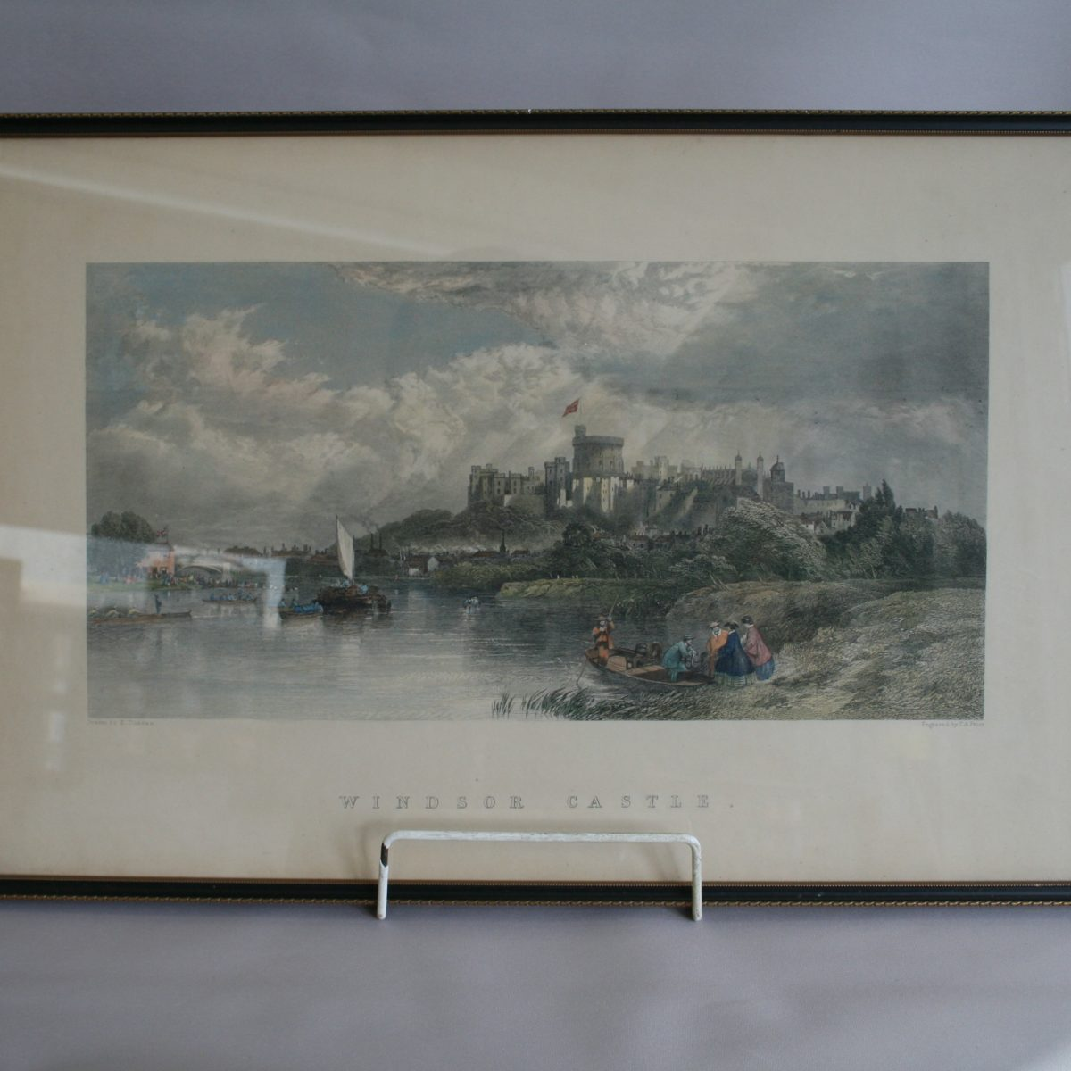 copperplate print of Windsor castle/williamsantiques