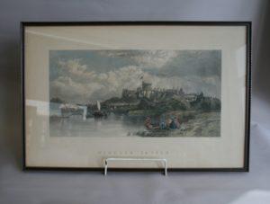 copperplate print of Windsor castle/williamsantiques