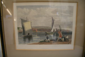 engraved 19th century view of Exmouth