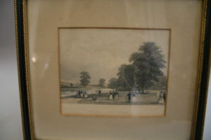 engraving of a view in St.James Park
