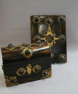 Victorian Coromandel wood stationary set