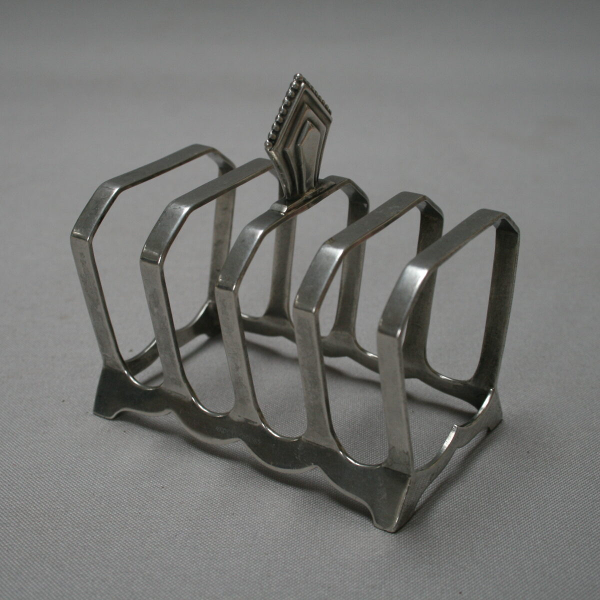 Art Deco silver toast rack/williamsantiques