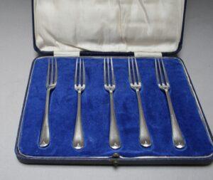 5 silver pastry/williamsantiques
