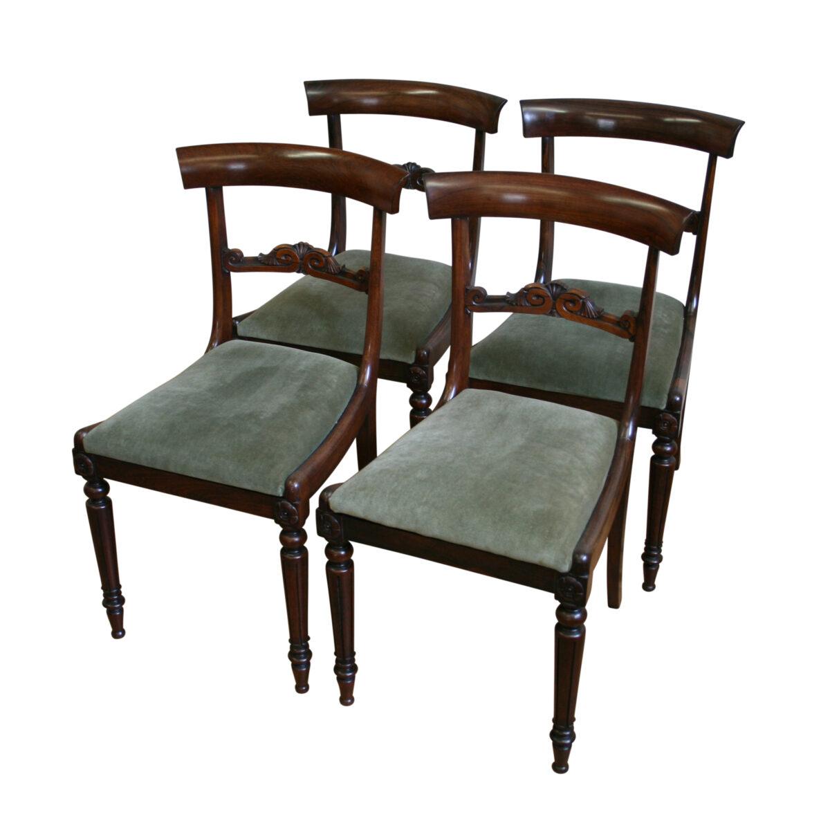 rosewood William IV dining chairs/williamsantiques