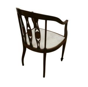 Edwardian mahogany tub chair/williamsantiques
