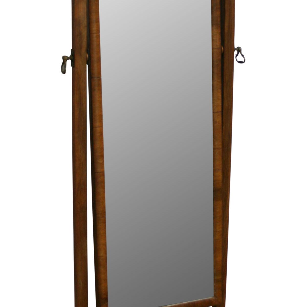 American black walnut cheval mirror/williamsantiques