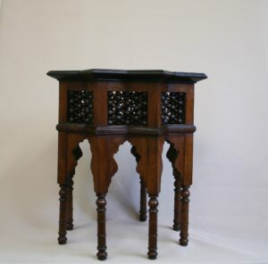 Syrian hardwood star shaped side table/williamsantiques