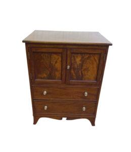Georgian mahogany converted chest commode/williamsantiques