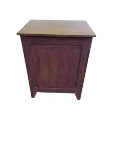 Georgian mahogany converted chest commode