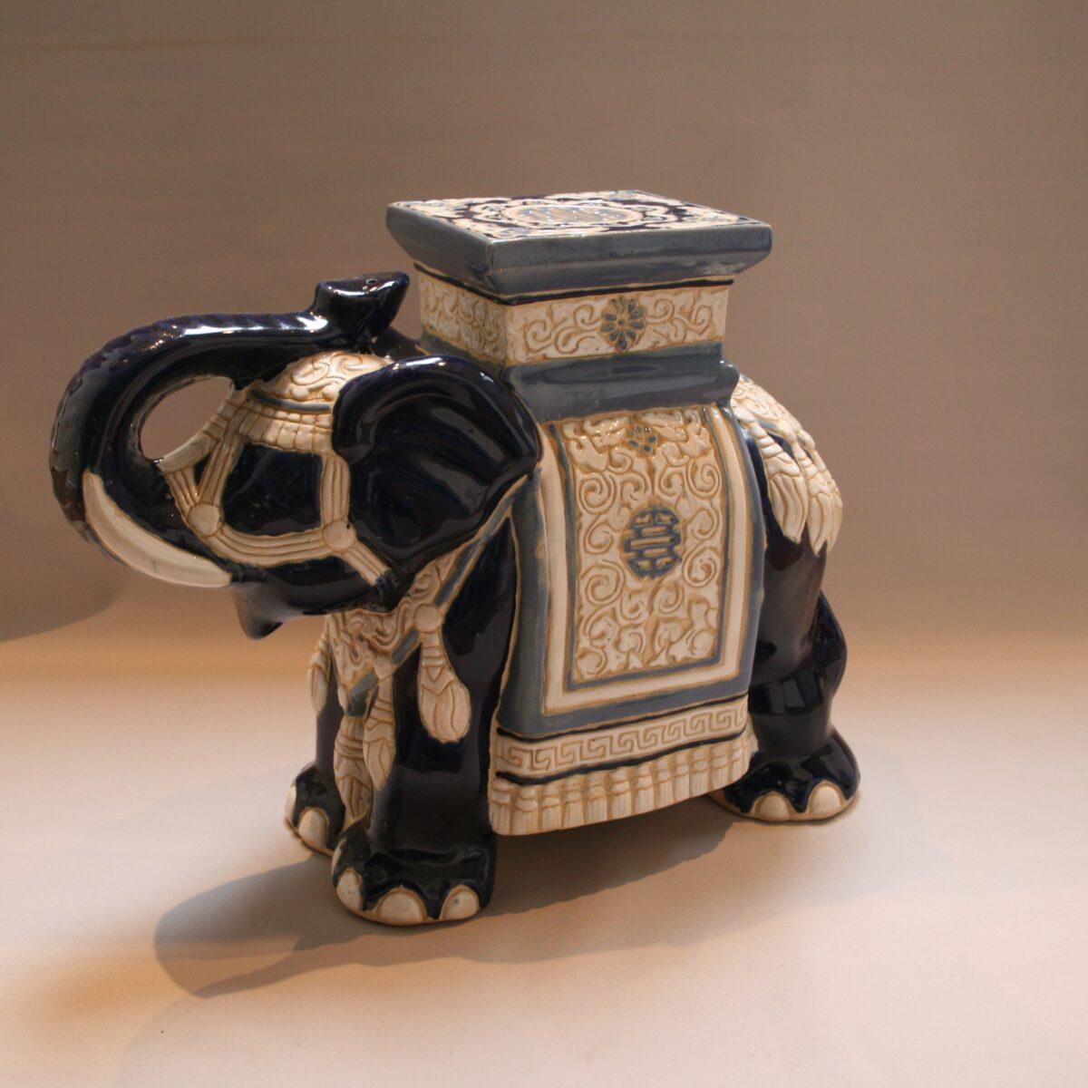 ceramic Elephant plant stand/williamsantiques