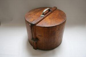 Edwardian wooden storage box/williamsantiques