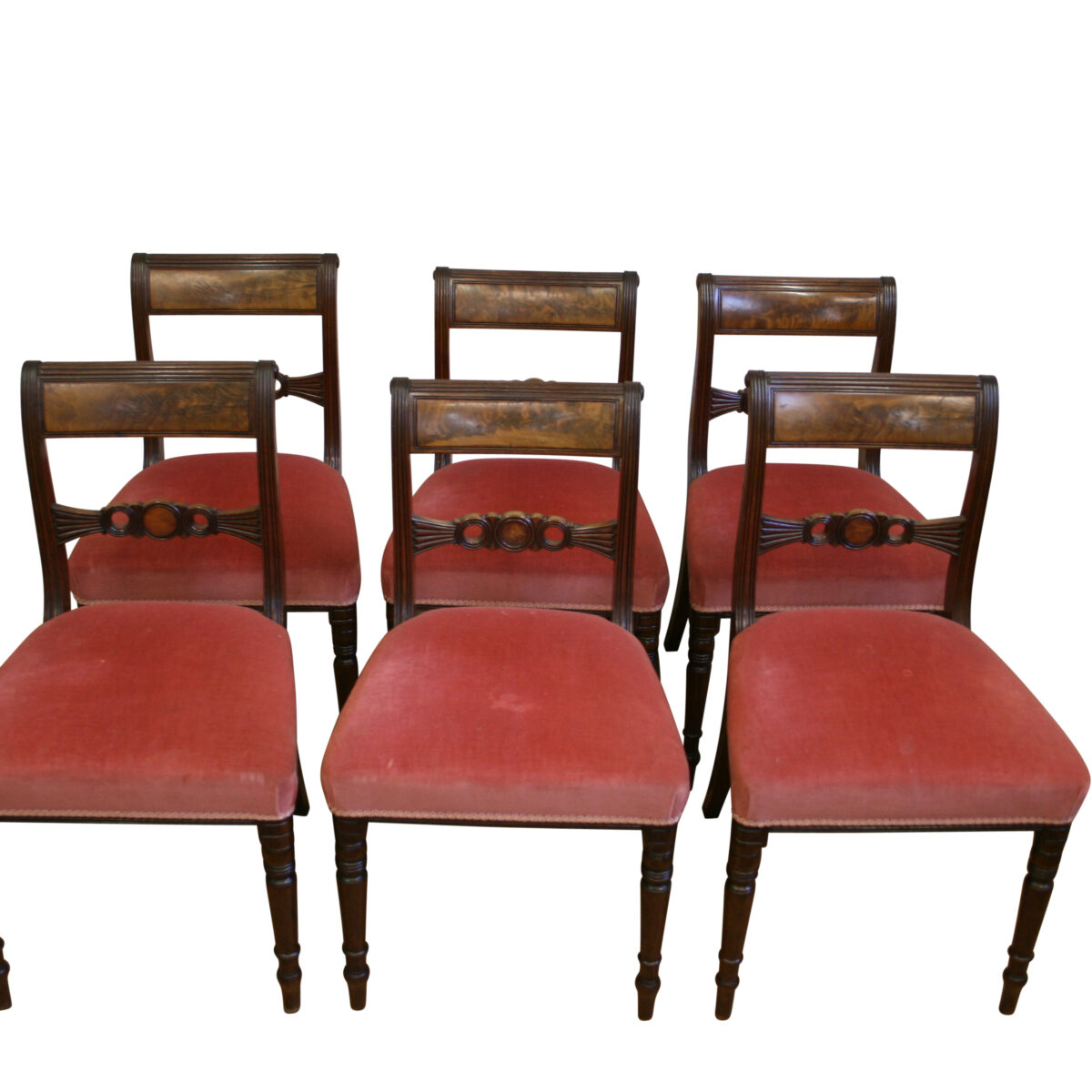 six mahogany Regency dining chairs/williamsantiques
