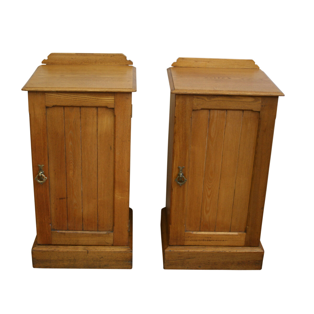 pair of Ash pot or bedside cupboards/williamsantiques