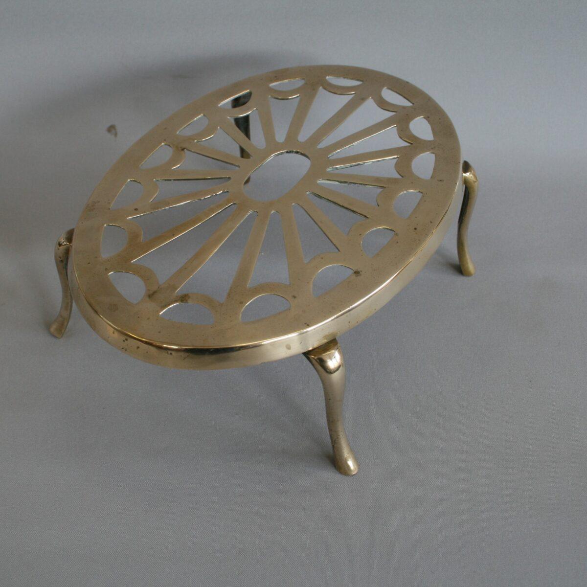 oval shaped brass trivet/williamsantiques