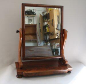 late Victorian mahogany toilet mirror/williamsantiques