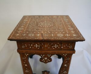 Moorish style hardwood side table/williamsantiques