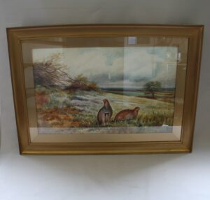 watercolour paintings of grouse/williamsantiques