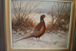 framed oil paintings of pheasants/williamsantiques