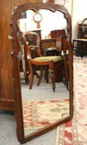 mahogany cross-banded mirror/williamsantiques